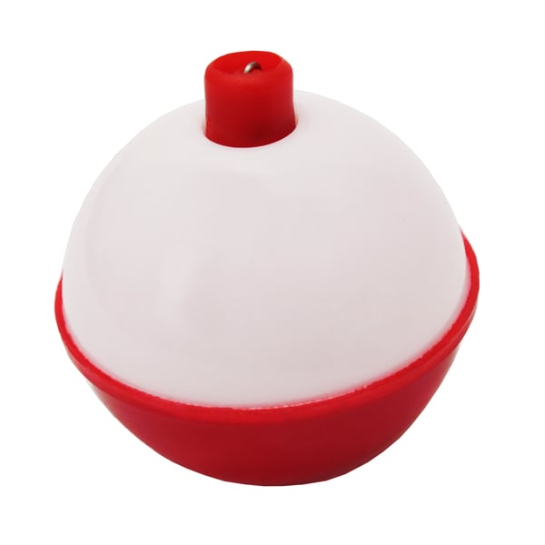Eagle Claw Snap-On Round Floats Red/White Size 1-inch (Per 3)