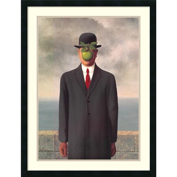 Rene Magritte 'Le Fils de l'Homme (Son of Man), 1964' Framed Art Print 26 x 34-inch