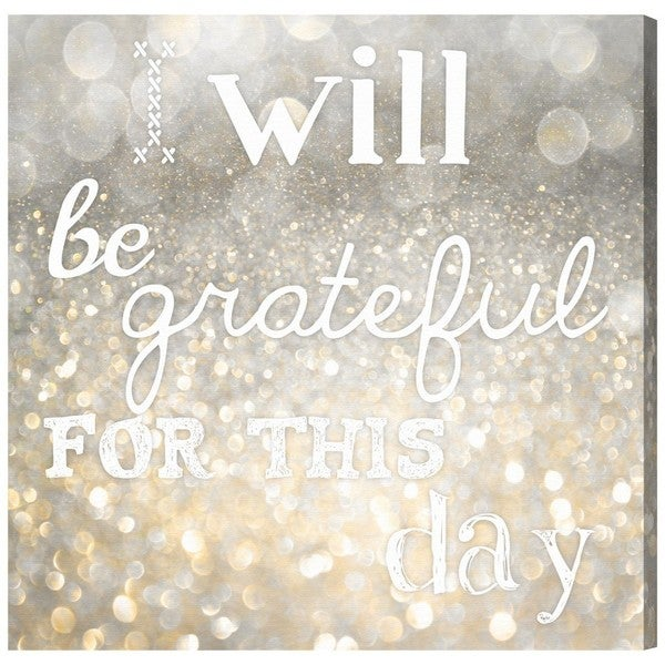 Blakely Home 'Grateful for Today' Canvas Art