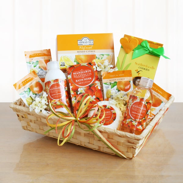 Citrus Spa and Tea Experience Gift Basket