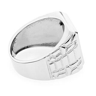 Luxurman 14k Gold Men's Square Black Onyx Ring