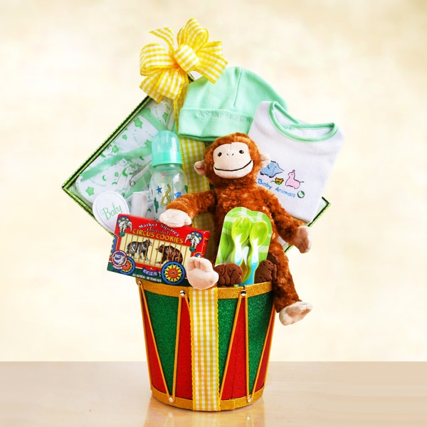 Monkey Drum Baby Gift Basket