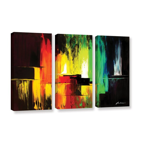 ArtWall Milen Tod 'Vibrance' 3 Piece Gallery-wrapped Canvas Set 16162444