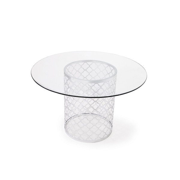 Melrose Dining Table, Silver