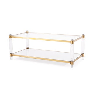 Acrylic Coffee Sofa Amp End Tables Overstock Shopping