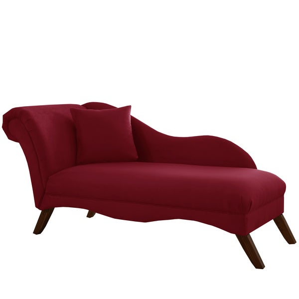 Skyline Furniture Chaise Lounge in Velvet Berry