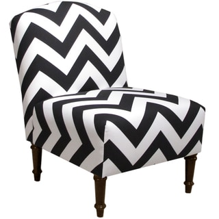 Skyline Furniture Camel Back Chair in Zippy Black-White