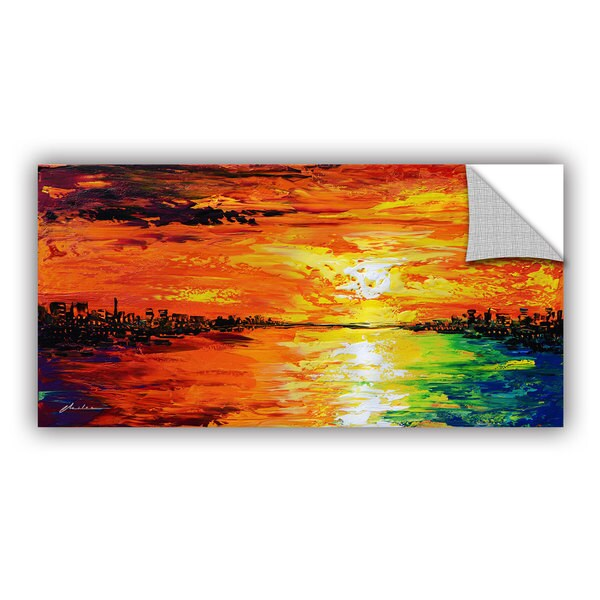ArtAppealz Milen Tod 'Dusk'S Dawn' Removable Wall Art