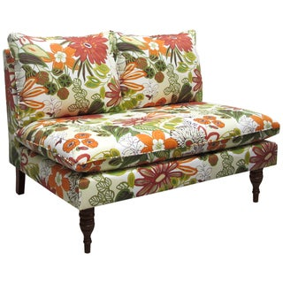 Skyline Furniture Armless Love Seat in Lilith Marigold