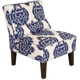 Skyline Furniture Armless Chair in Diamond Blue