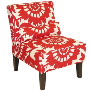 Accent chairs floral living room chairs for Bella flora chaise lounge