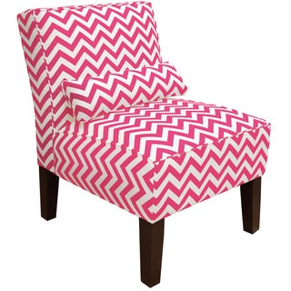 Skyline Furniture Armless Chair in Zig Zag Candy Pink