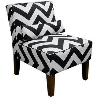 Skyline Furniture Armless Chair in Zippy Black-White