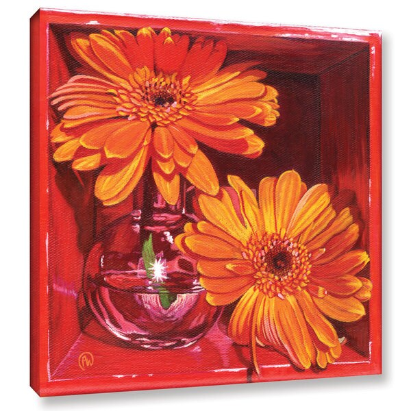 ArtWall Paige Wallis 'Orange Crush' Gallery-wrapped Canvas