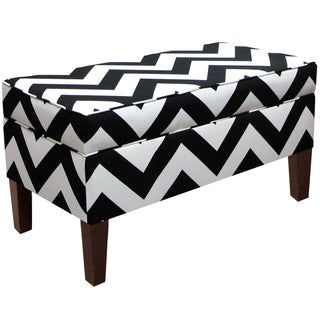 Skyline Furniture Storage Bench in Zippy Black-White