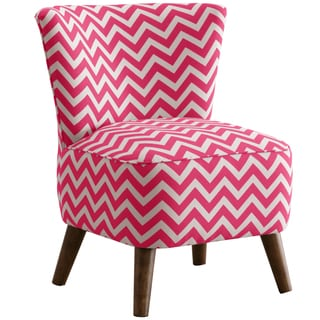 Made to Order Skyline Furniture Upholstered Chair in Zig Zag Candy Pink