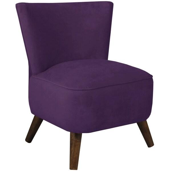 Skyline Furniture Upholstered Chair in Velvet Aubergine