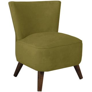 Made to Order Skyline Furniture Upholstered Chair in Velvet Applegreen