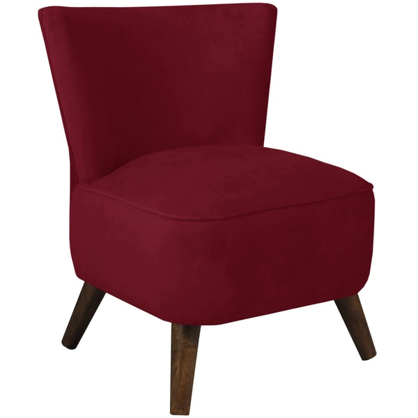 Skyline Furniture Upholstered Chair in Velvet Berry