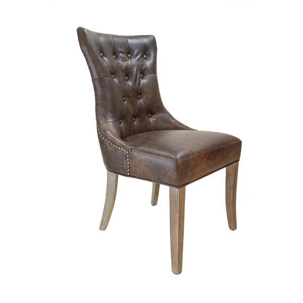 Martine Tufted Leather Arm Chair