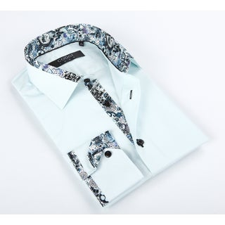 Coogi Luxe Men's Mint Solid Button-up Dress Shirt
