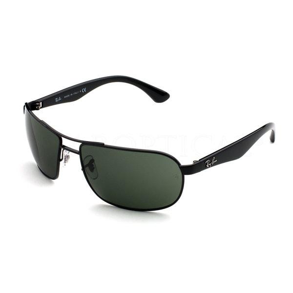 Ray-Ban RB3492 62mm Green Classic Lenses Black Frame Sunglasses