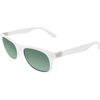 Ray-Ban RB4207 55mm Green Classic Lenses White Frame Sunglasses