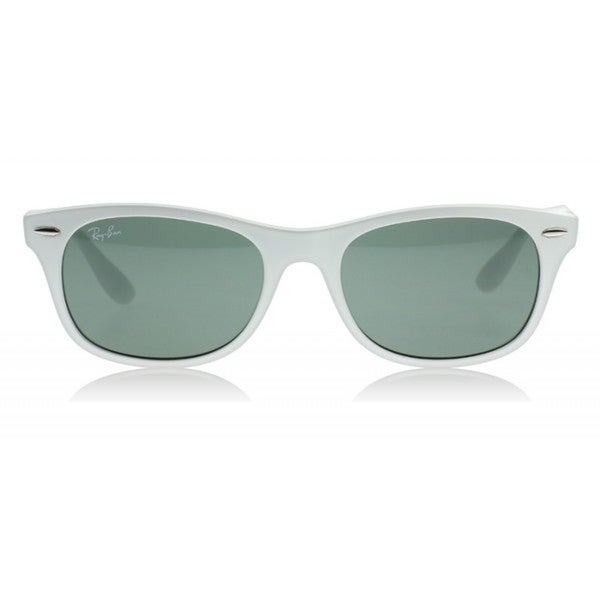 Ray-Ban RB4207 55mm Green Classic Lenses White Frame Sunglasses