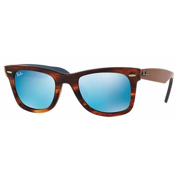 Ray-Ban RB2140 50mm Blue Flash Mirror Lenses Tortoise/Brown/Blue Frame Sunglasses