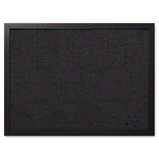 MasterVision Designer Black Fabric/Black Frame Fabric Bulletin Board