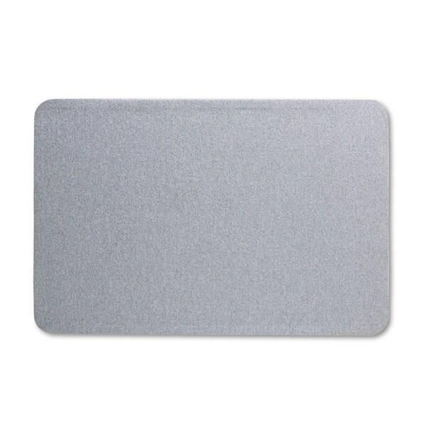 Quartet Oval Office Gray Fabric Bulletin Board
