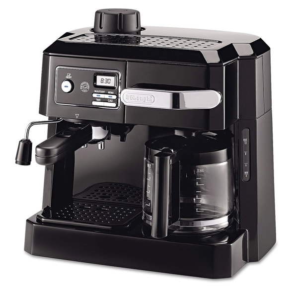 DeLonghi BCO320T Combination Drip Coffee, Cappuccino and Espresso Machine with Programmable Timer - Black 16164107