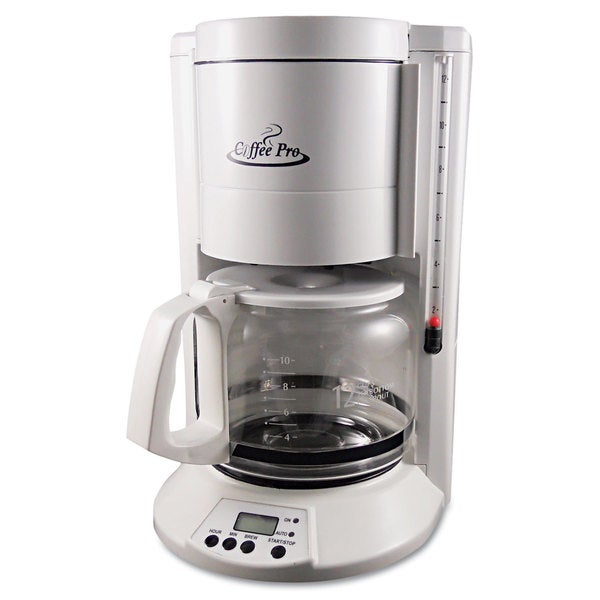 Coffee Pro Home/Office 12-Cup White Coffee Maker