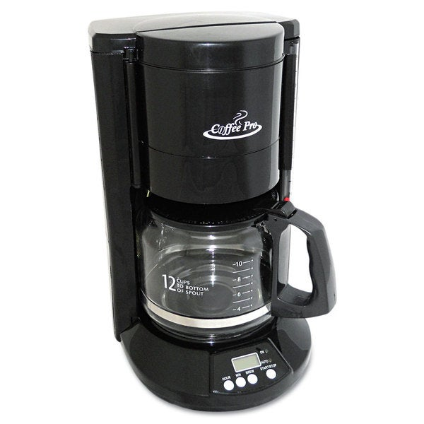 Coffee Pro Home/Office 12-Cup Black Coffee Maker 16164114