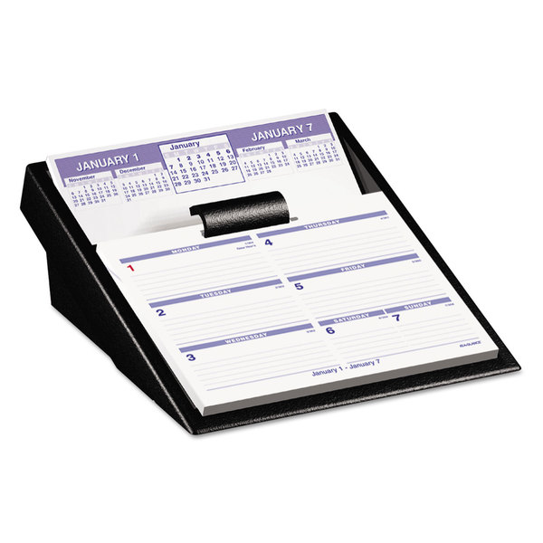 AT-A-GLANCE Flip-A-Week 2016 Desk Calendar and Base