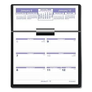 AT-A-GLANCE Flip-A-Week 2016 Desk Calendar and Base