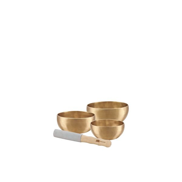 Meinl Sonic Energy SB-U-1500 3-piece Universal Singing Bowl Set with Resonant Mallet