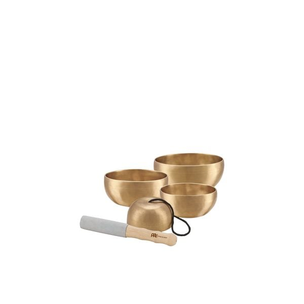 Meinl Sonic Energy SB-U-1750 4-piece Universal Singing Bowl Set with Resonant Mallet
