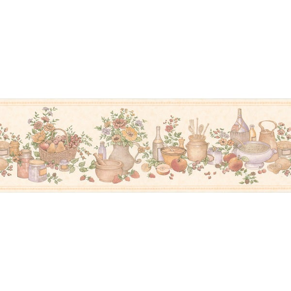 Peach Kitchen Wallpaper Border
