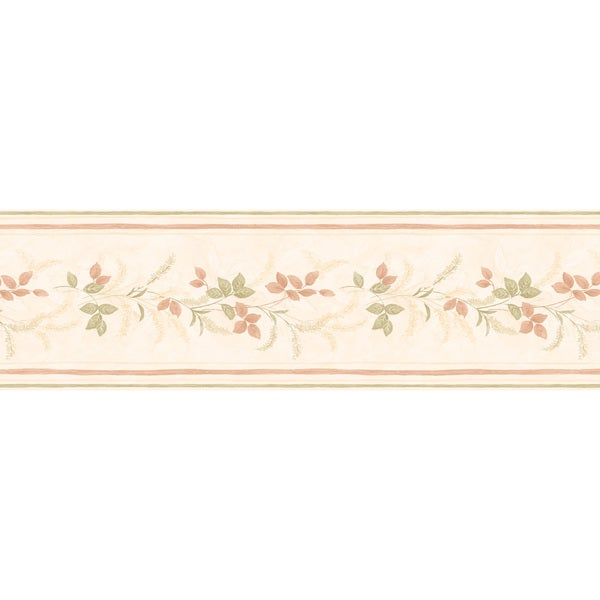Peach Leaf Wallpaper Border