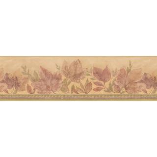 Beige Leaf Wallpaper Border