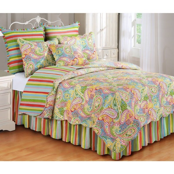 Paisley Spring Full/ Queen Size Quilt