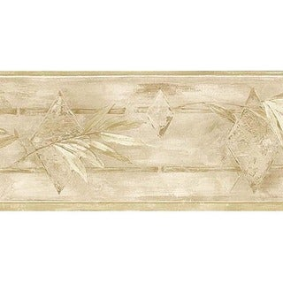 Stone Leaf Wallpaper Border