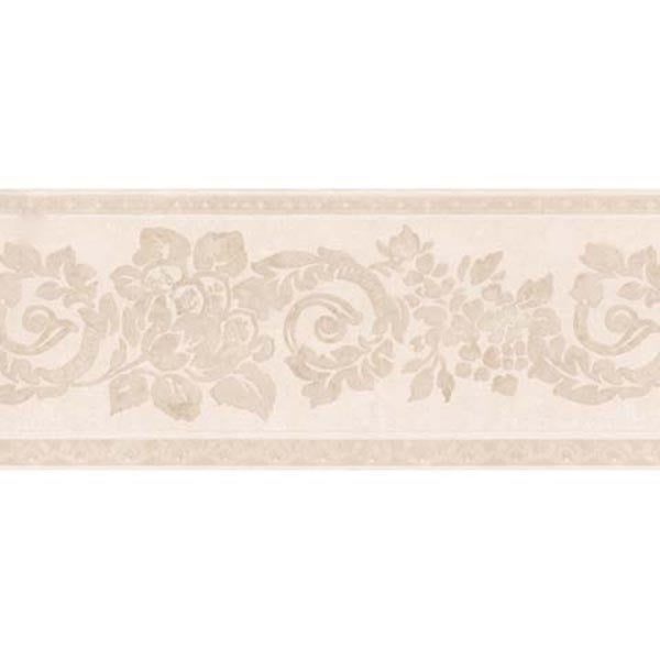 Light Pink Floral Scroll Wallpaper Border