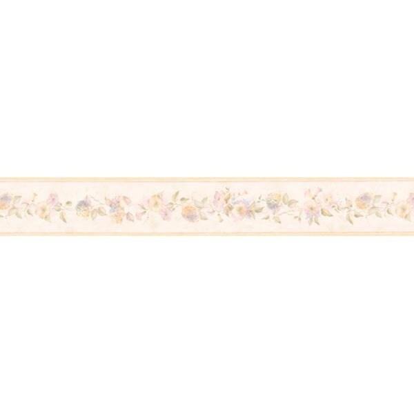 Pink Floral Wallpaper Border