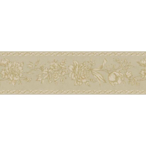 Champagne Floral Trail Wallpaper Border