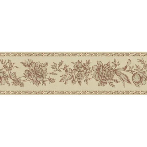 Red Floral Trail Wallpaper Border