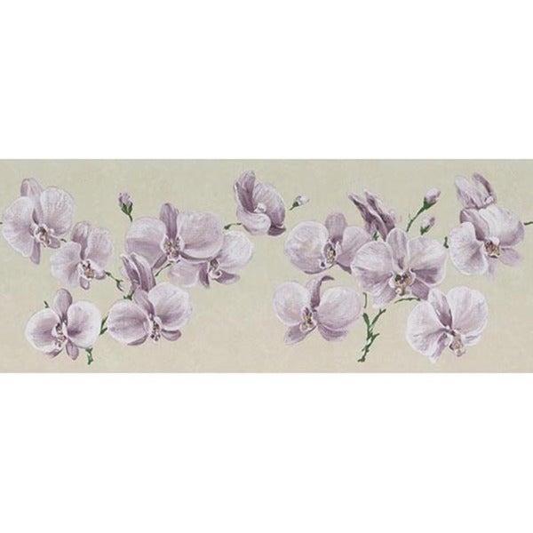 Lavender Orchid Wallpaper Border