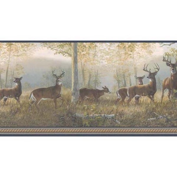 Blue Deer Wallpaper Border