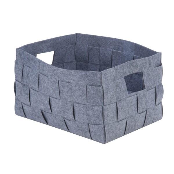 woven felt bin, L gray
